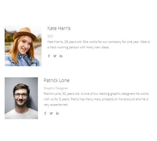 Person Module | Divi Builder