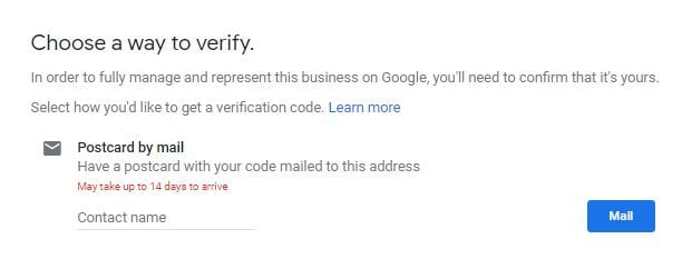 Google My Business Verify